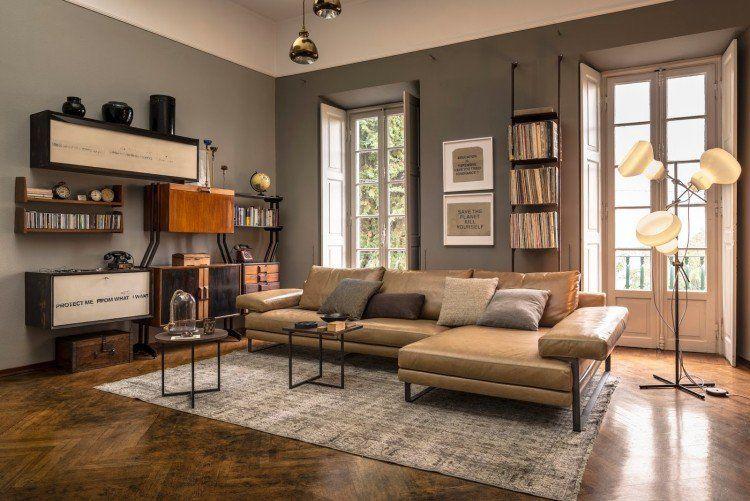 Canapé d angle dans le salon pour plus de confort  la maison