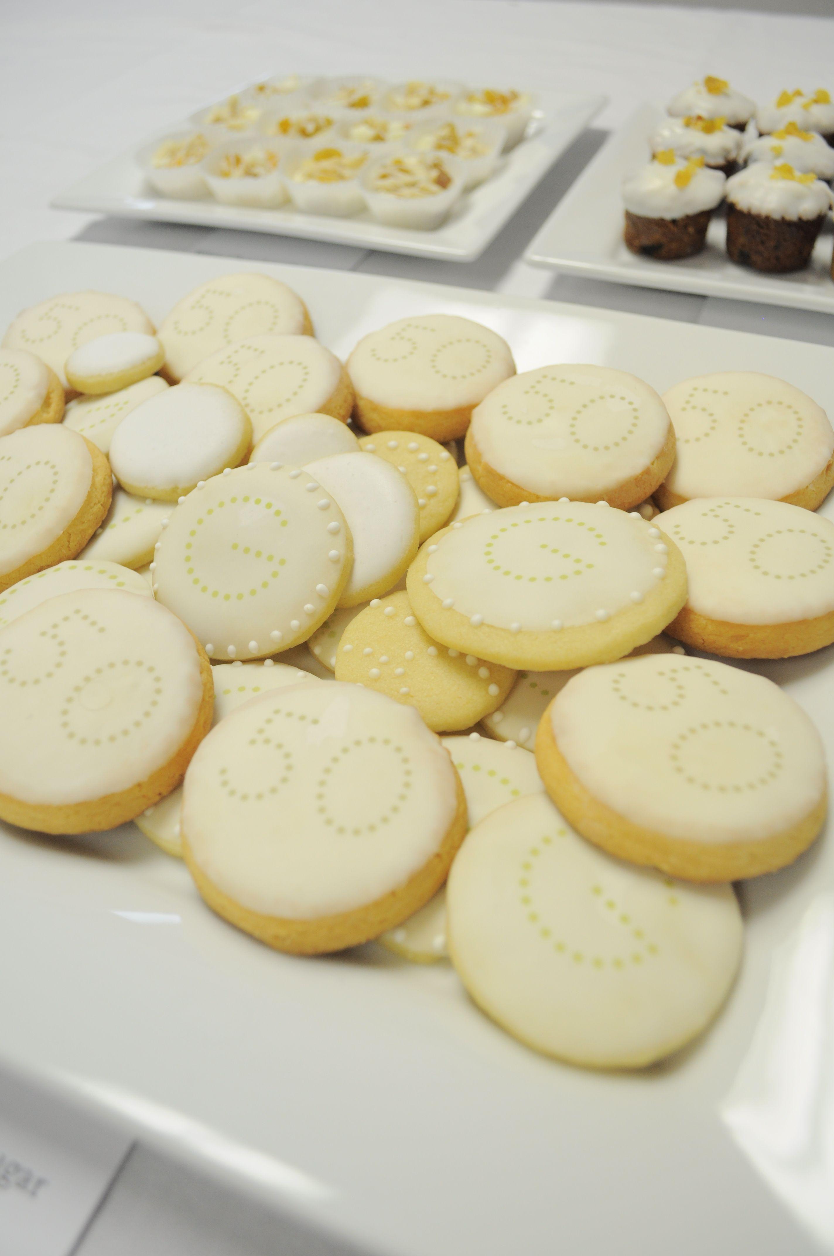 golden anniversary cookies and desserts --50th wedding anniversary ...