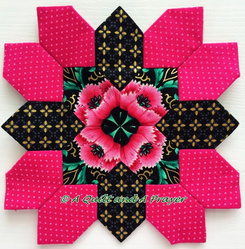 POTC block by Teresa at A Quilt and a Prayer. Great center!!