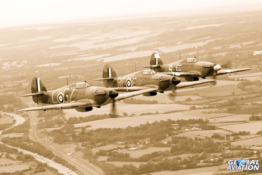 The Hurricanes head for Capel-le-Ferne. © Mike Rivett – http://www.fotomotion.org/©