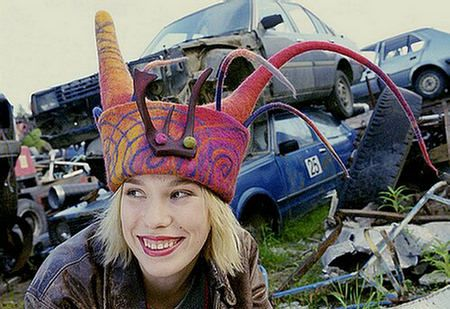 Felted hat by Elina Saari via Ullabenulla