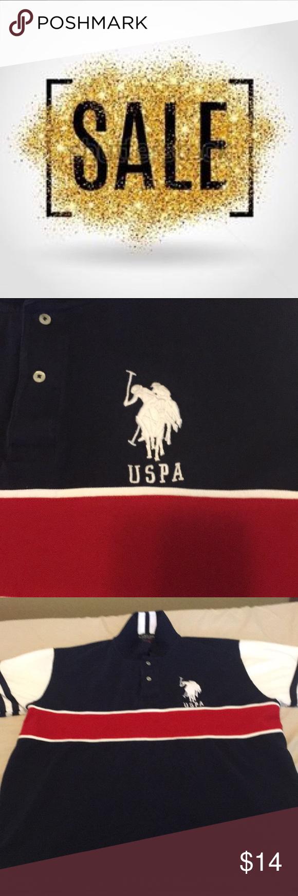 Nwot Us Polo Assn Big Logo Blue Red Us Polo Assn Polo Assn Nwot