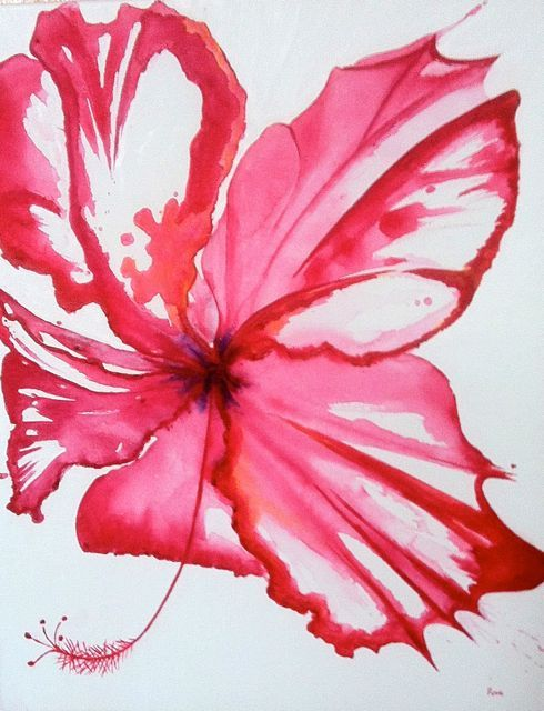 Acrylic Hibiscus Painting Google Search Abstract Flower Painting Decorative Painting Projects Flower Painting
