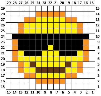 Sunglasses Emoji C2C square and pixel graph   Repeat Crafter Me ...