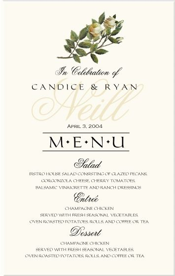 Sample Menu Card. Birthday Menu Templates Free Sample Example Format ...