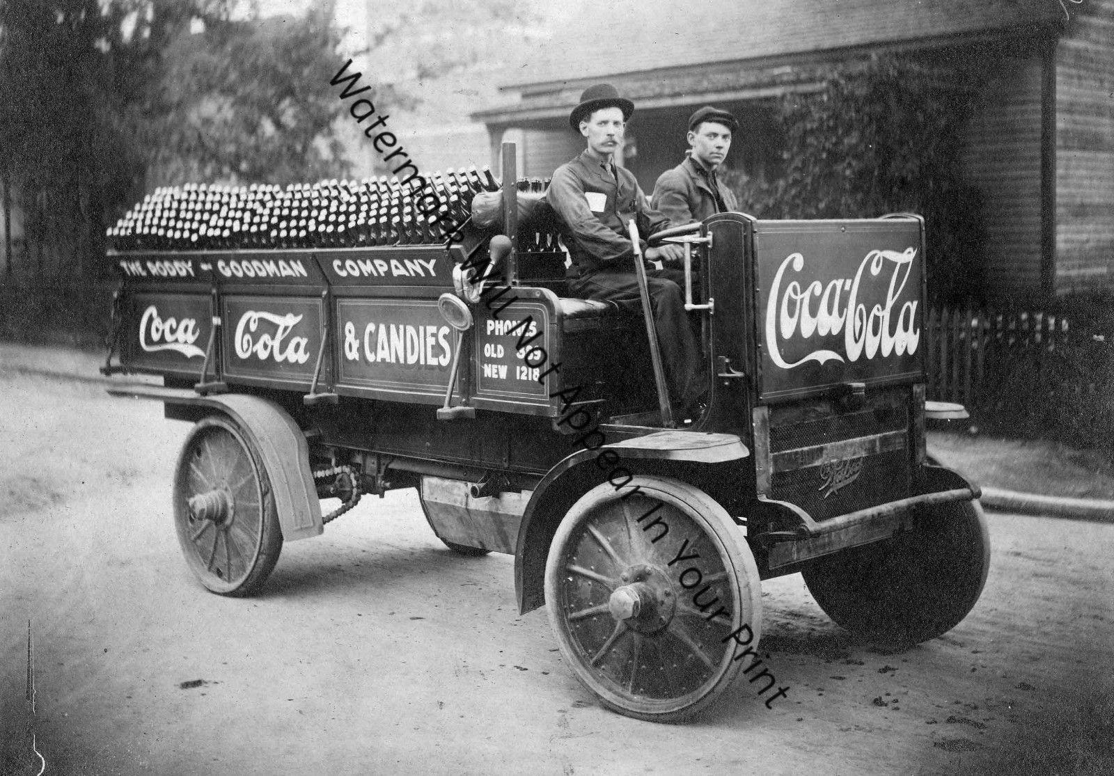 OLD ANTIQUE VINTAGE Coca Cola Delivery Truck Sales Advertising RARE ...