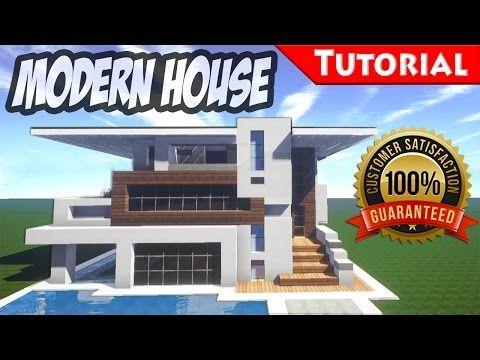 Minecraft easy modern house mansion tutorial download how also rh pinterest