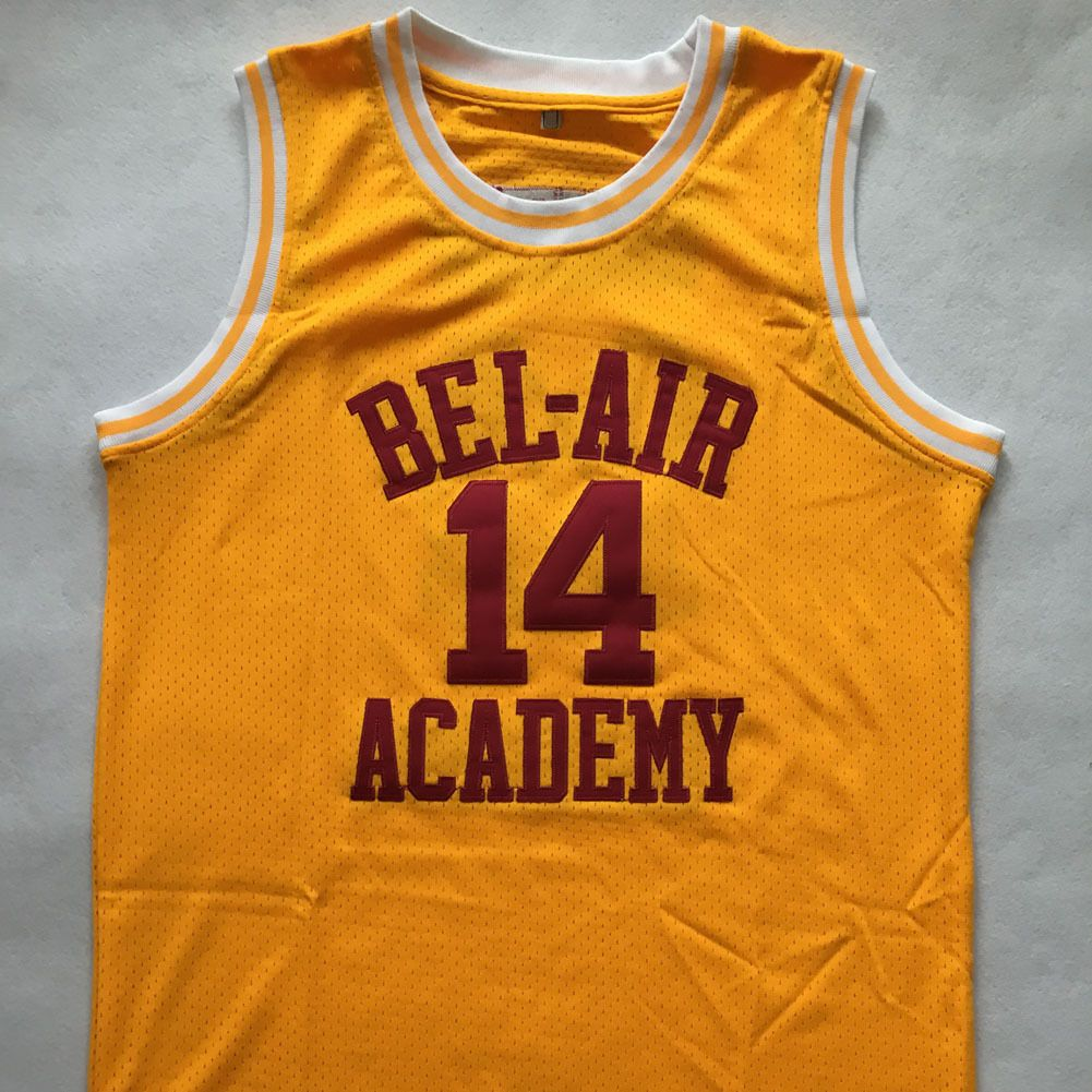 68c483a4160f Fresh Prince 14 Will Smith Jersey Yellow Bel-Air Academy Basketball Jersey  - Basketball-Other
