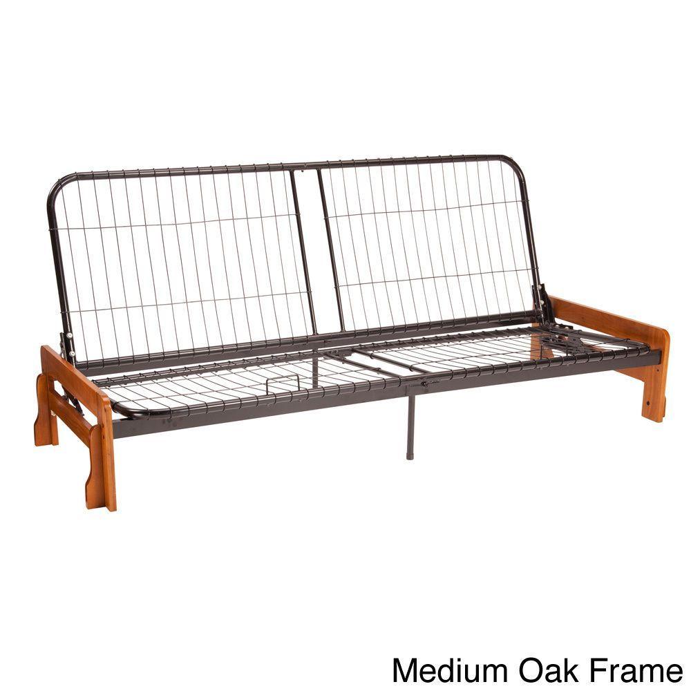 Epicfurnishings Boston Armless Futon Frame Full Size Only Medium Oak Brown