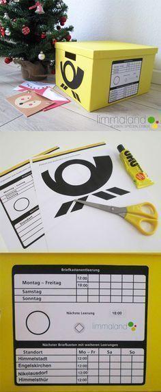Kinderpost selber machen - inkl. Bastelvorlage für Postkarten