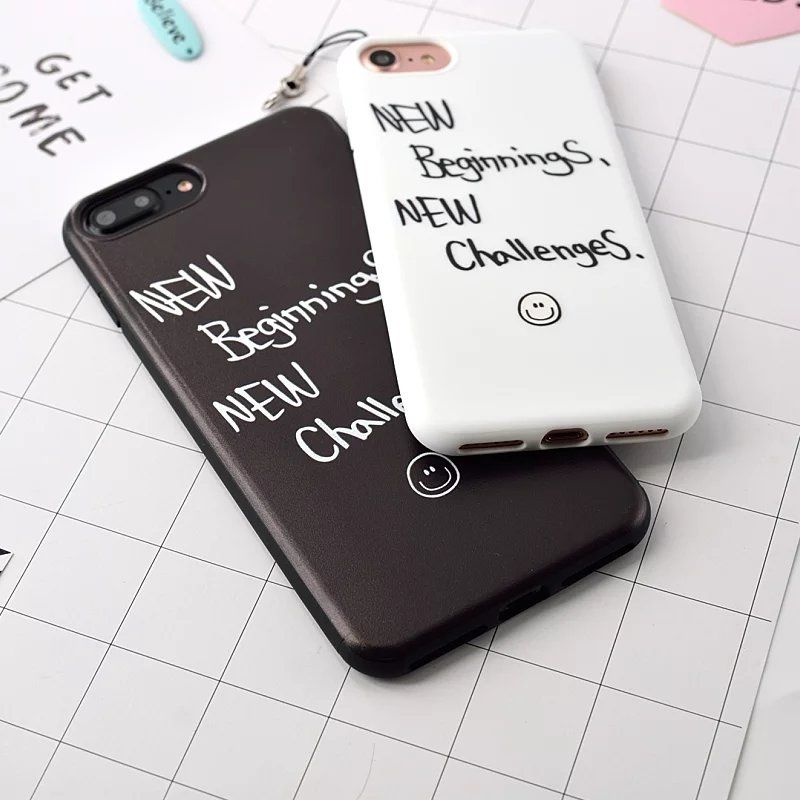 cover letter for telecommunications%0A New Motto Case For iPhone     Plus   Black White Lema Letter case Soft TPU  cases for apple plus phone Back Cover