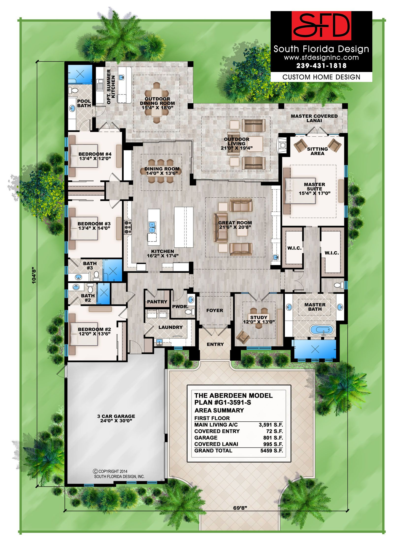 Aberdeen this contemporary 1 floor 4 bedroom home design for Search floor plans by features