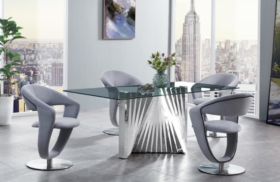 G2056 Ii Gray Table In 2020 Modern Dining Room Set Dining Room