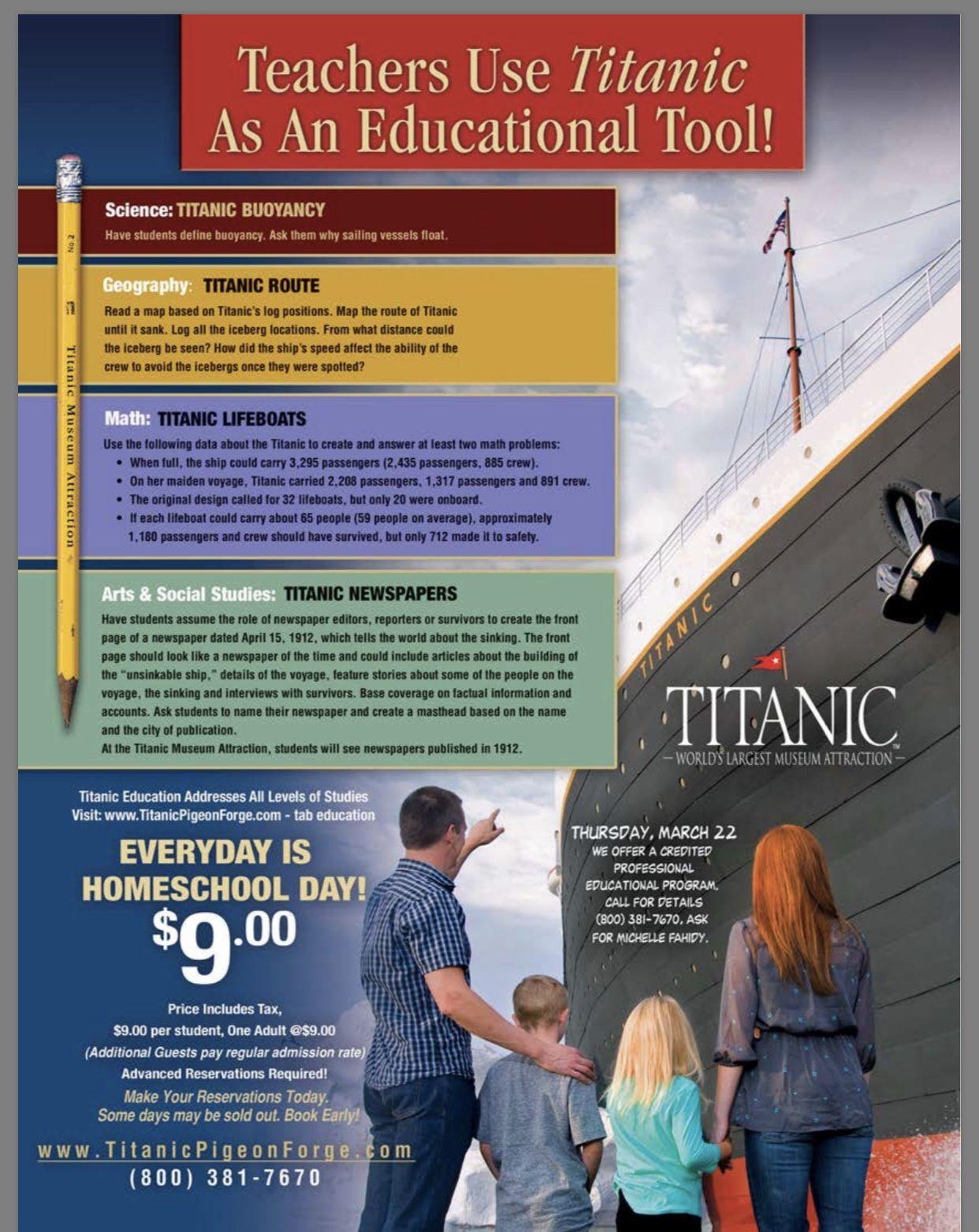 Titanic Pigeon Forge Homeschool Day