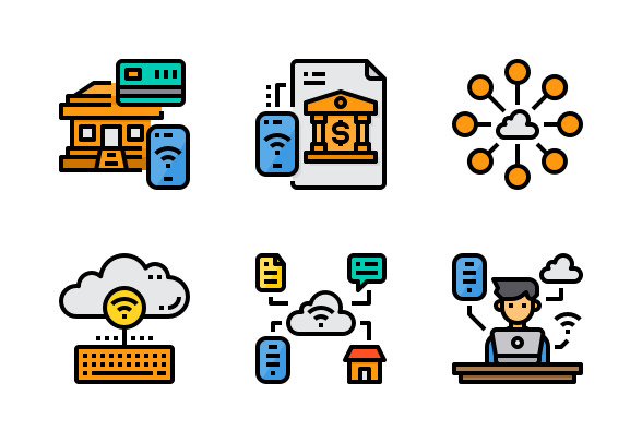 Internet Of Things Icons By Komkrit Noenpoempisut Electronics Poster Electronics Illustration Marketing Strategy Social Media