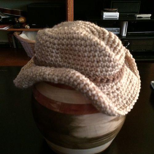 This Is A Baby Sized Cowboy Hat With A Brim Crochet Kids