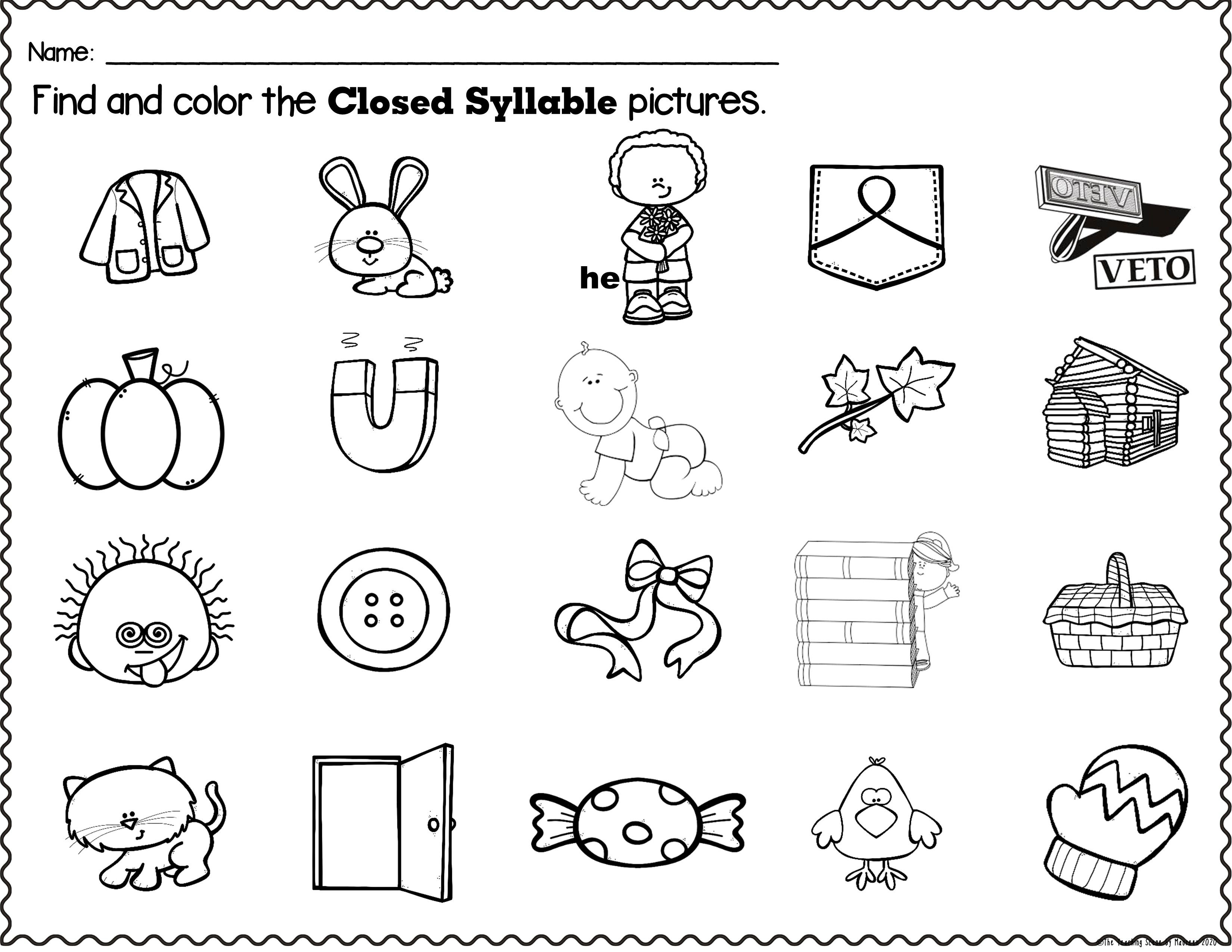 Open And Closed Syllable Board Game Closed Syllables Orton Gillingham Activities Orton Gillingham