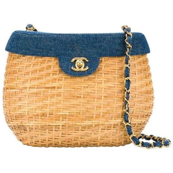 49de4a939972 Preowned Chanel Vintage Basket Crossbody Bag ( 4
