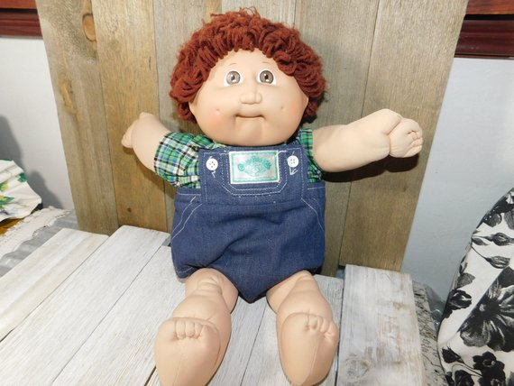 Cabbage Patch Boy Doll Dimple Cabbage Patch Brown Looped Etsy Vintage Cabbage Patch Dolls Cabbage Patch Kids Dolls Cabbage Patch Dolls