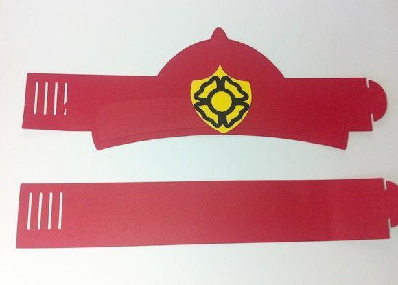 2a22b6c0b2 Chapéu bombeiro | moldes | Aniversário de bombeiro, Bombeiro e ...