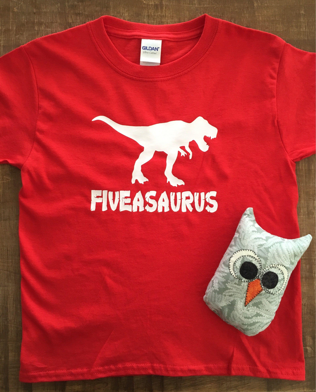 T Rex Birthday Shirt Personalized Dinosaur 5th 5 Year Old 323