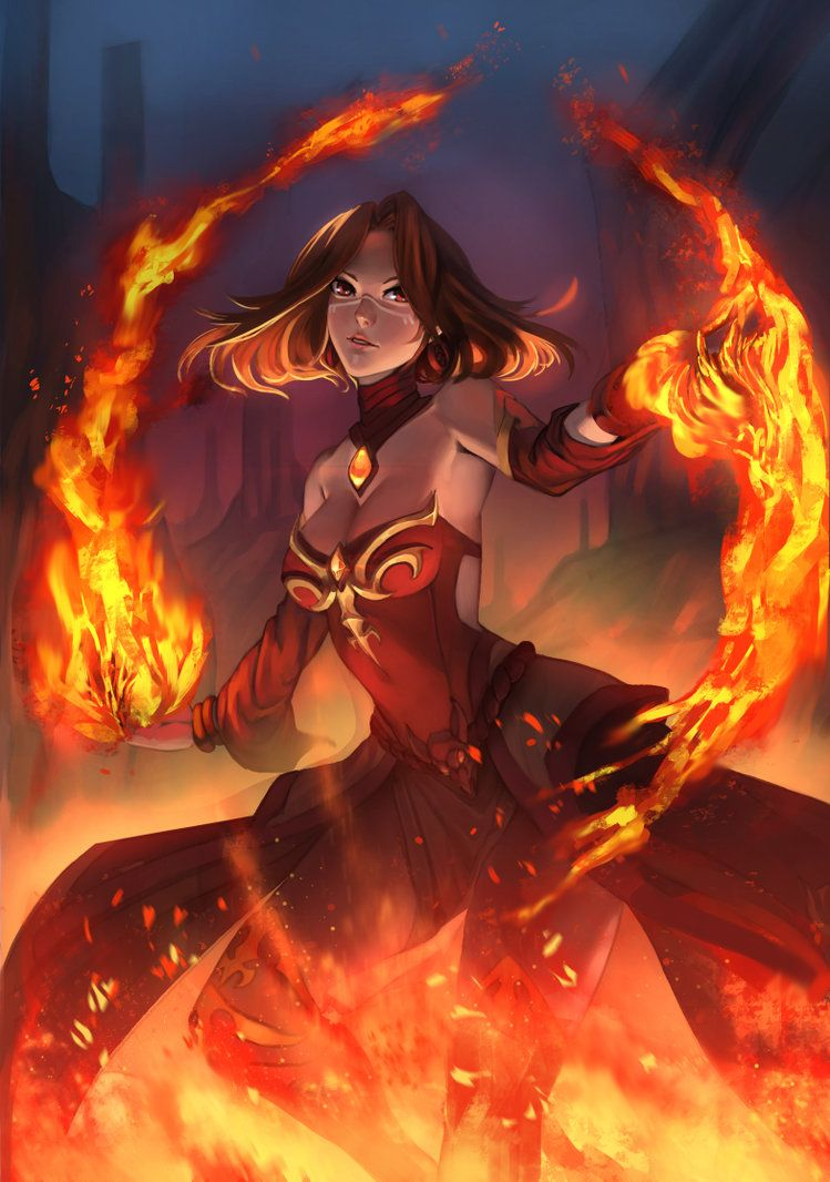 Fire Mage Fantasy Girl Fantasy Artwork Anime Art Girl