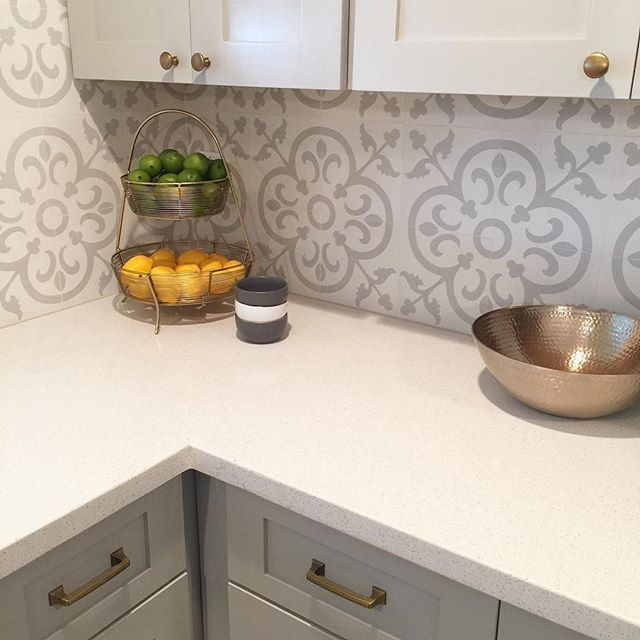 Easy Kitchen Backsplash Ideas: Encaustic Cement Tile Cannes III
