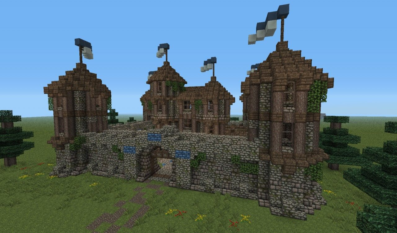 Medieval fortress minecraft project minecraft medieval for Small castle designs