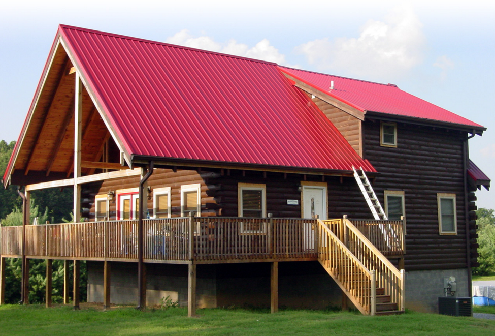 Best Lyon Metal Roofing Red Colours Interesting And Look 400 x 300