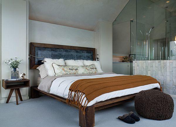 Top Rustic And Modern Wooden Bed Frames For A Stylish Bedroom Rustic Bed Platform And Detached Head Contemporary Bedroom Bed Frame Design Platform Bed Designs