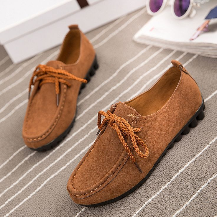 Tendance Chaussures 2017/ 2018 : 2017 Spring New Female Casual Flat Suede  Driving Loafers Lace-up Shoes for Women... - Vogue Tunisie | Maroc |  Algérie ...