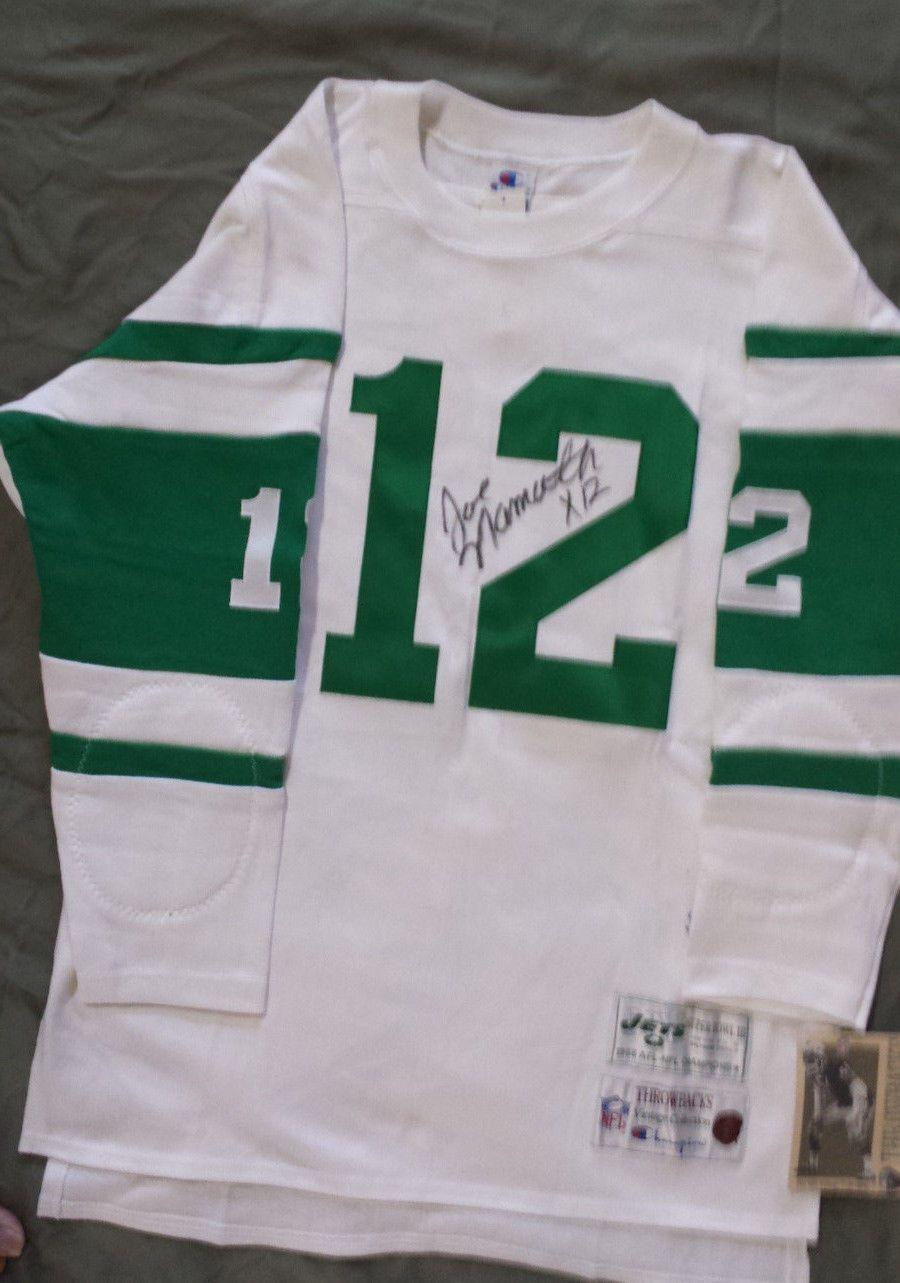 new styles ef724 522a4 JOE NAMATH Autographed Champions Vintage Throwback NY Jets ...