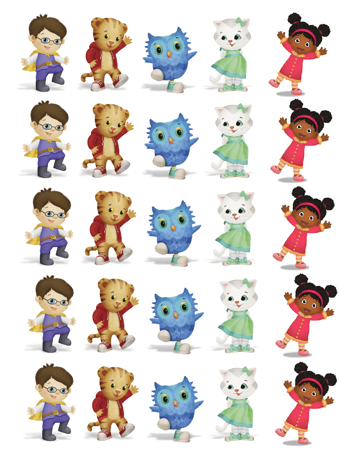 photo regarding Daniel Tiger Printable called Persona printables Daniel Tiger Printables inside of 2019