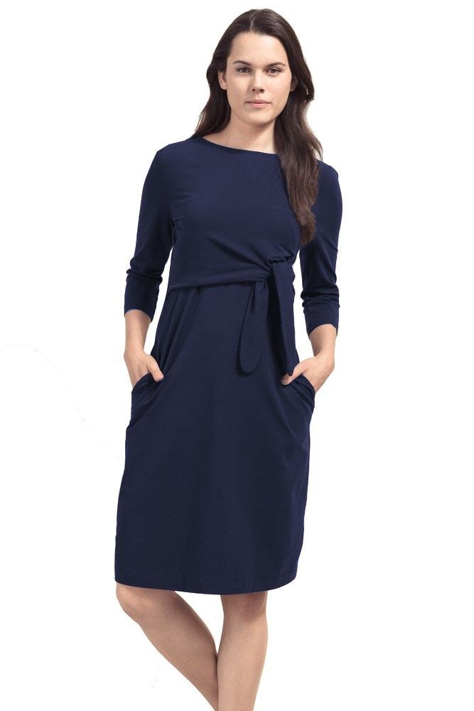 f43cd2d0eca70 Boob Design Amy Organic Cotton Nursing Dress (Midnight Blue) in 2018 ...