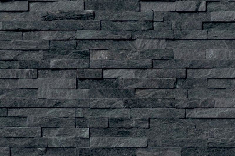 Split Face Black Slate Wall Tile 10x35cm
