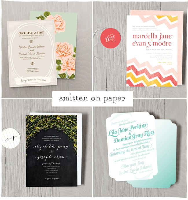 Wedding Invitation Giveaway: Wedding Invitations By Smitten On Paper + A Giveaway
