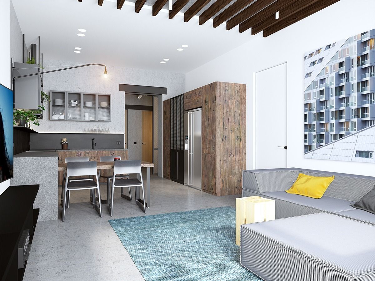 Handsome Small Apartments With Open Concept Layouts Apartment Design Small Apartments Home Layout Design