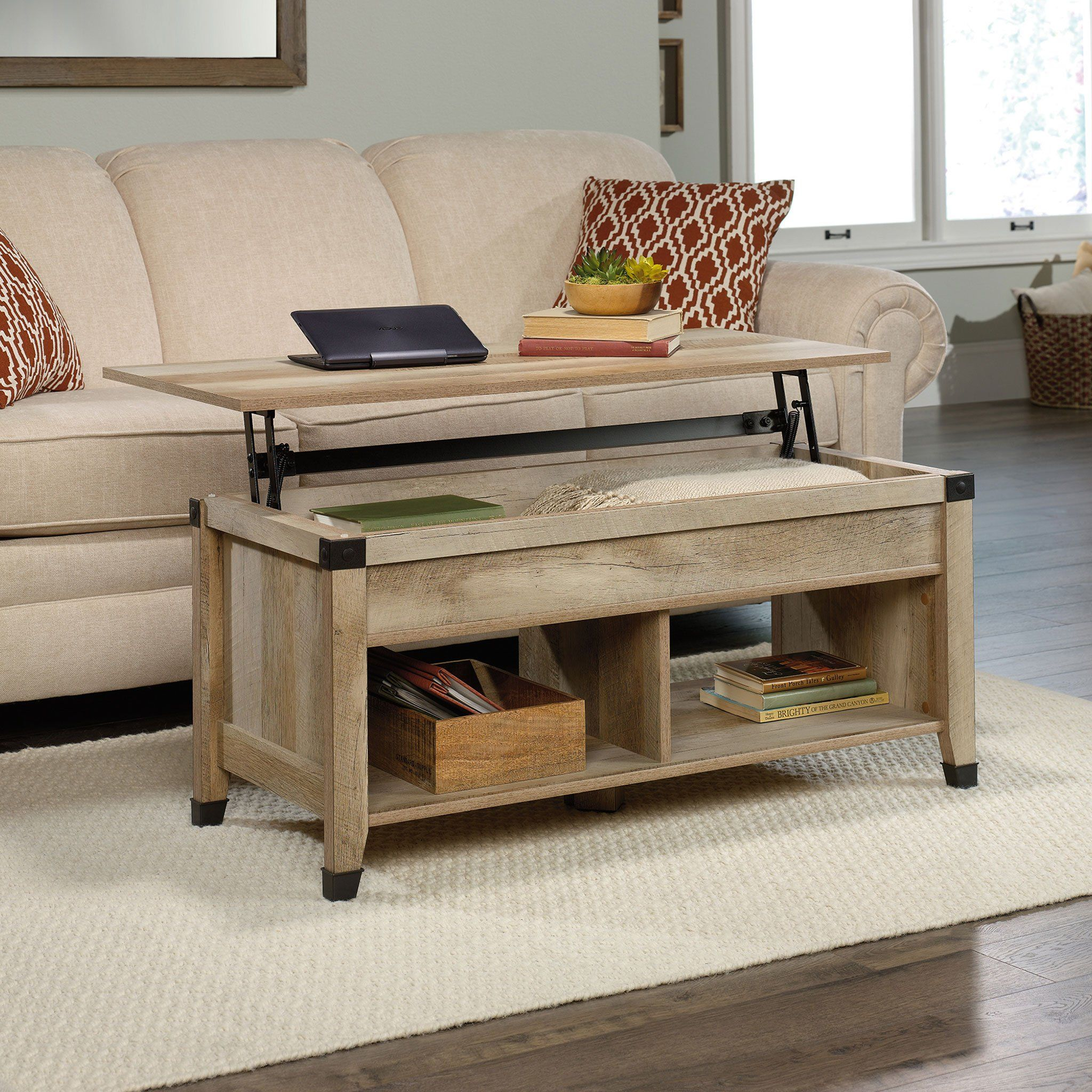 Carson Forge Masuta Cafea Cu Lift Top Coffee Table Coffee Table With Storage Rustic Wooden Coffee Table [ 2048 x 2048 Pixel ]
