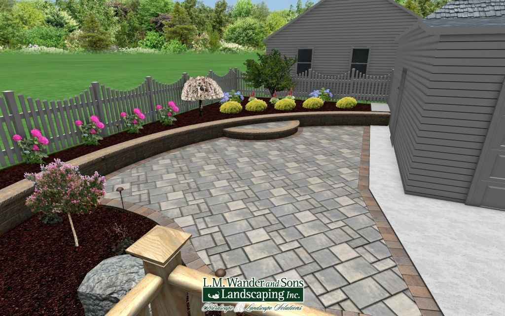 3d Paver Patio And Landscaping Design Using Realtime Landscaping Architect Landscape Design Software Landscape Design Low Maintenance Landscaping