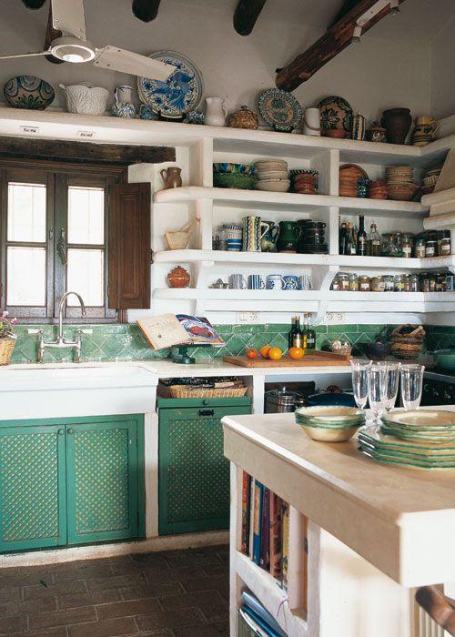 Muebles para casa de campo pisos rusticos para cabanas de - Muebles de cocina de obra ...