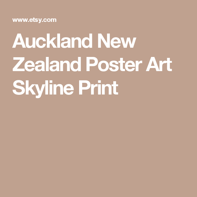 Auckland New Zealand Poster Art Skyline Print