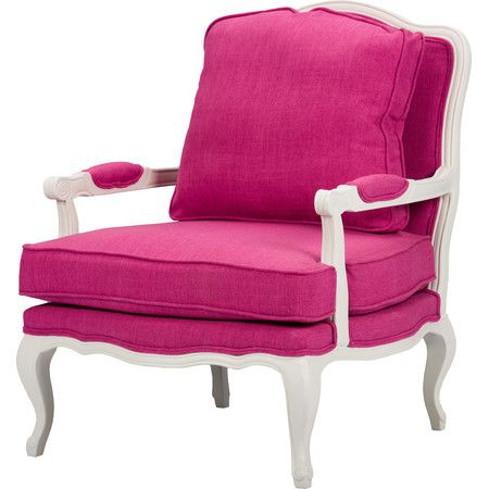 Add a pop of color to the living room or den with this lovely arm ...