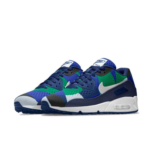 big sale 46603 73b37 Cheap Nike Air Max 90 Em Id Blue Green White Black Sale