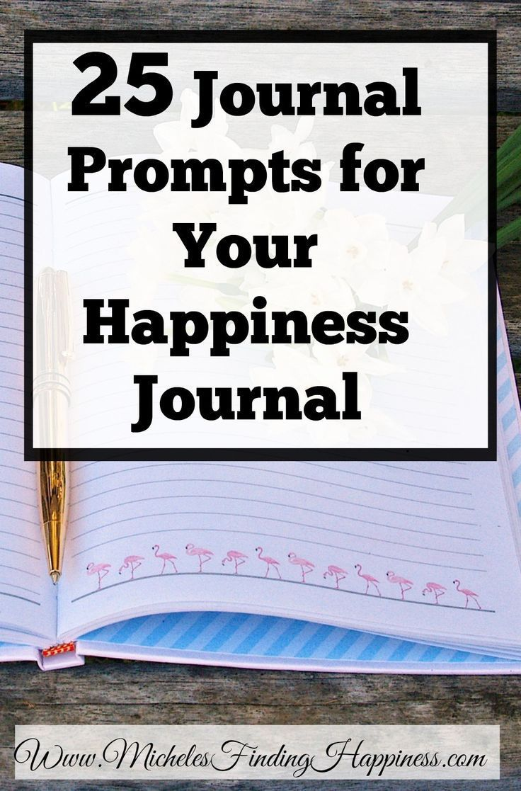 25 journal prompts for your happiness journal. If you love the idea of  making a happiness journal, but get stuck finding things to write about.