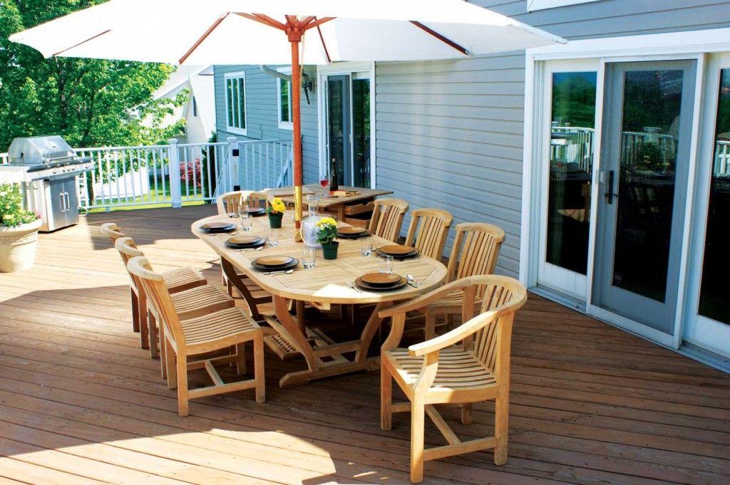 Mese Din Lemn Pentru Terase 15 Modele Frumoase Patio Design Outdoor Patio Furniture Sets Teak Outdoor Furniture