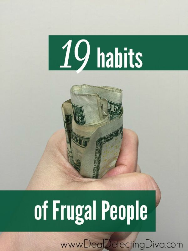 19 Habits of Frugal People