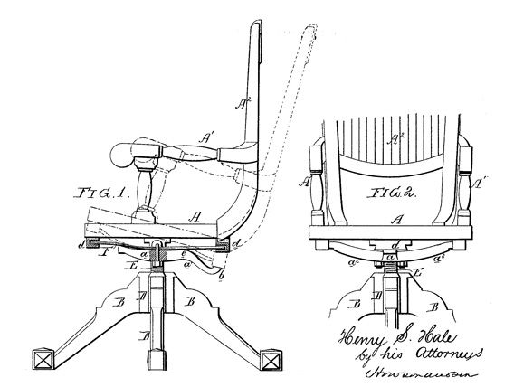 office chair diagram best message ergonomic chairs a visual history photos slate magazine patent of tilting henry s hale
