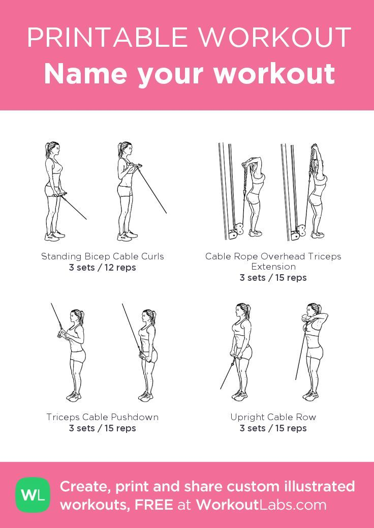 Name Your Workout Cable Machine Workout Cable Workout Workout Chart