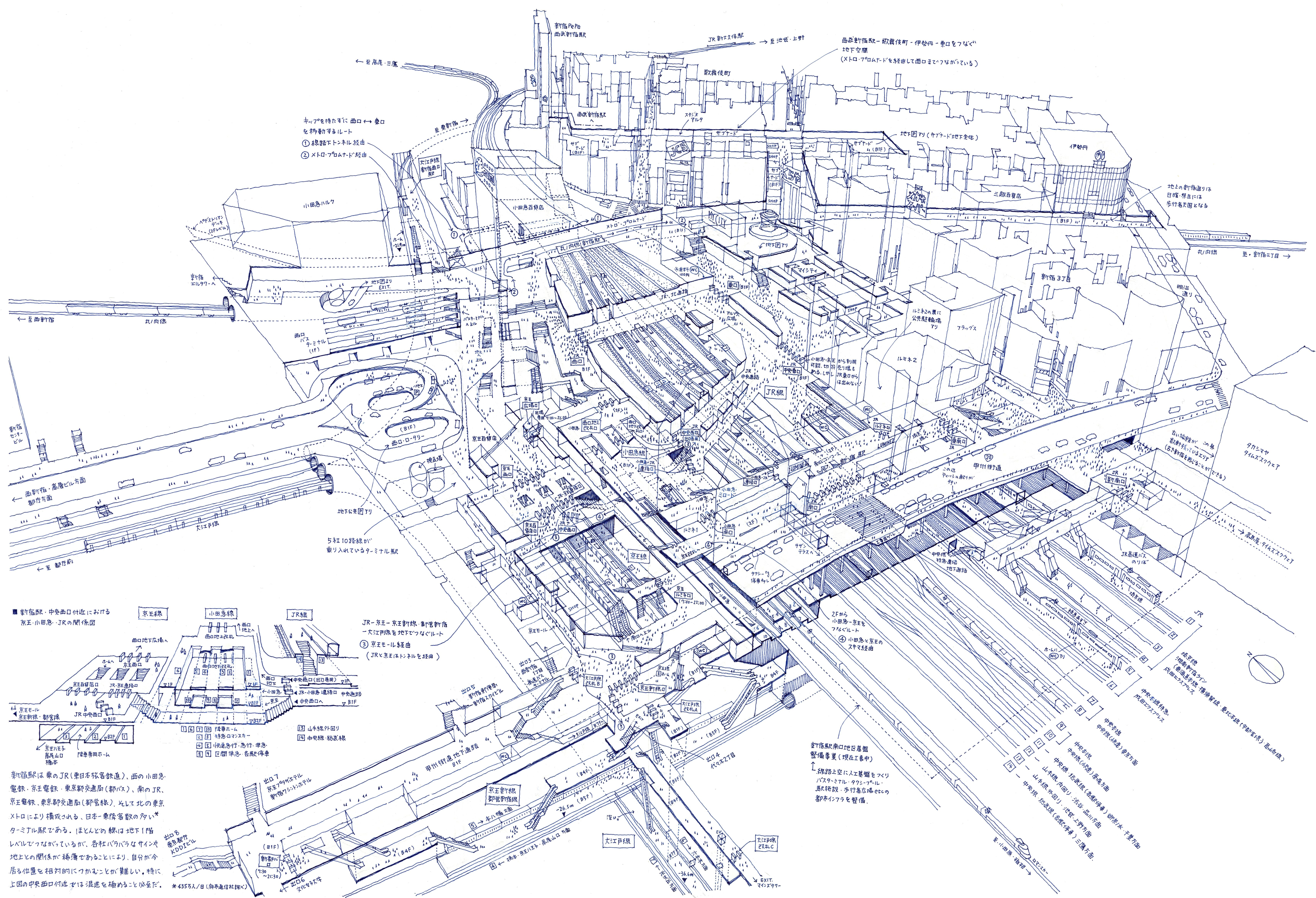 Lose yourself in tomoyuki tanakas x ray illustrations of tokyo lose yourself in tomoyuki tanakas x ray illustrations of tokyo train stations solutioingenieria Image collections