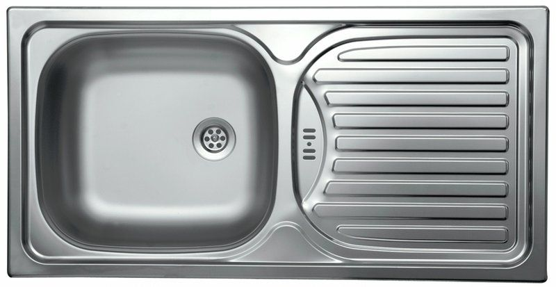 Kitchen Sink and Drainer in Stainless Steel 860x435mm | Our Trip ...